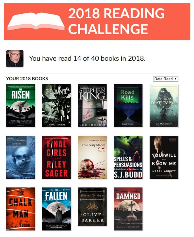 Goodreads 2018 Reading Challenge - The Haunted Pen